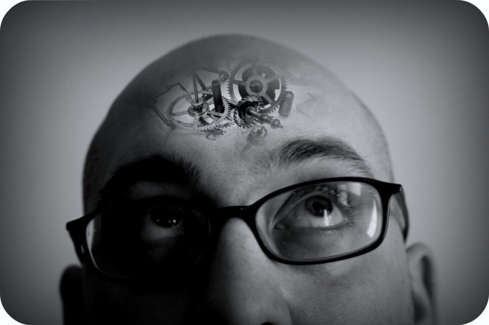 Picture of a man with cogs in his brain