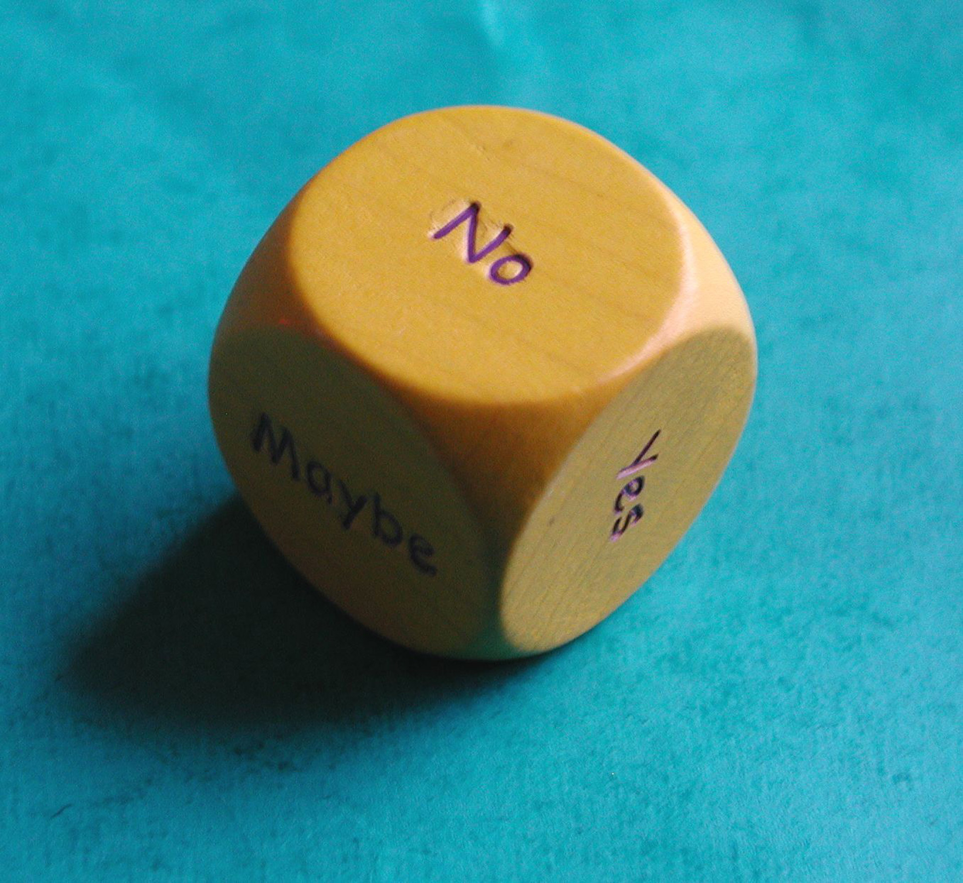 A Dice with the word 'No' on