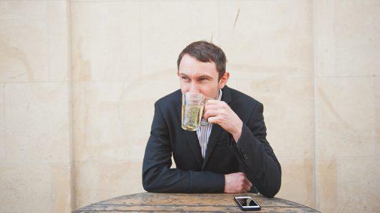 Image of Aaron Drinking Green Tea