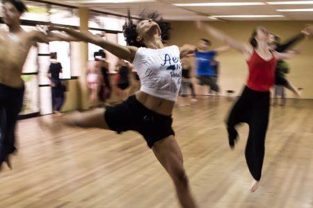 dancers on one leg