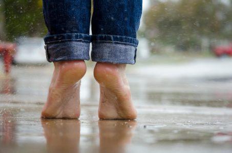 Feet In Rain